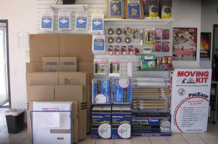 Self storage supplies at StorQuest self storage in San Leandro