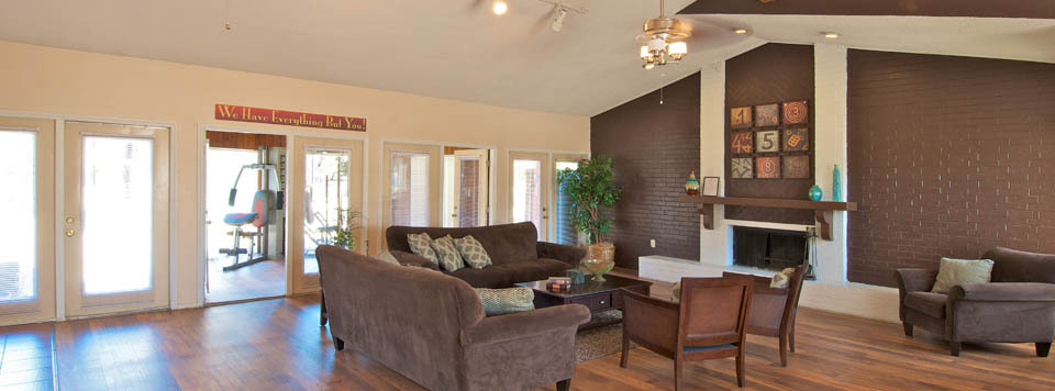 Hang out in the clubhouse and lounge at apartments in Mesquite, TX