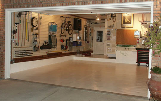 Clean garage at Storage Solutions