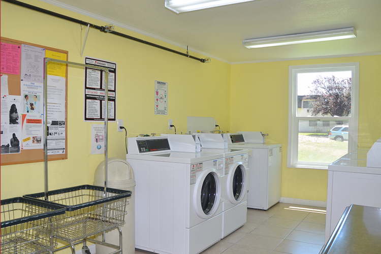 State of the art laundry facilities featured at Chapel Corner