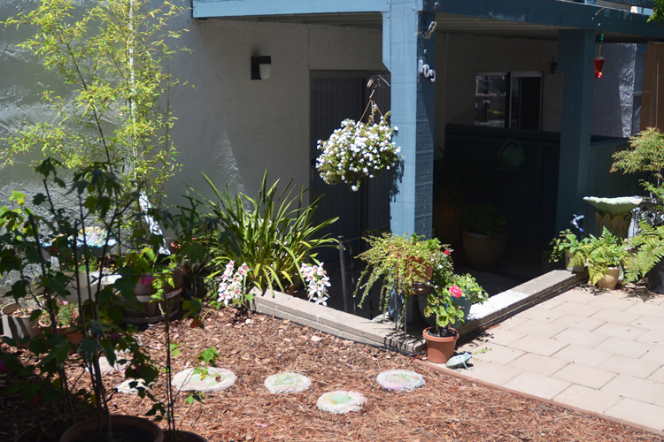 Well landscaped grounds featured at Chapel Corner senior living community