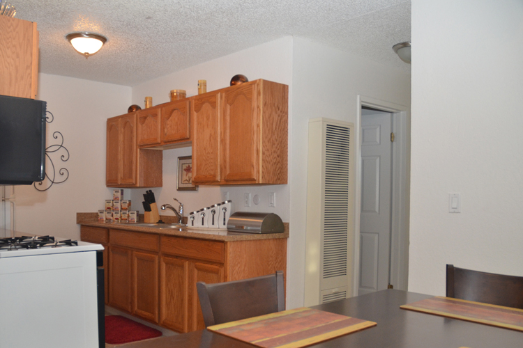 Fully equipped kitchen at Trinity Townhomes