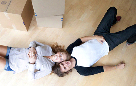 Happy couple at Storage Solutions