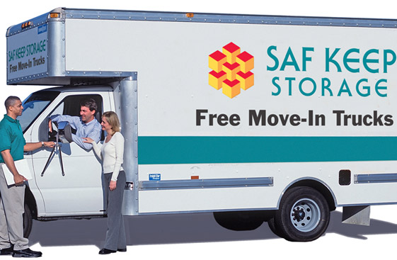 Self storage in California offers truck rental at it's facilities