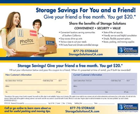 Refer a Friend - Storage Solutions