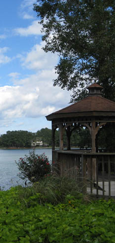 Hang out in the gazebo overlooking the water at apartments in Virginia Beach