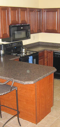 Entertain in the clubhouse kitchen at Virginia Beach apartments