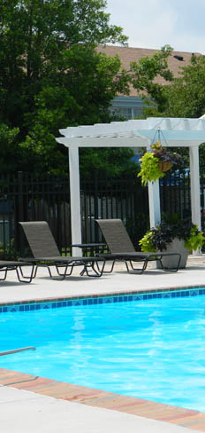 Haygood halls Apartments in Virginia Beach has a relaxing sun deck