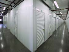 Kingwood storage units have well lit hallways.