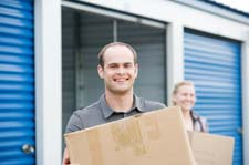 Customers pack Lutz storage units.