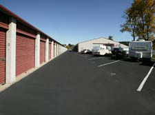 Parking spaces are available at Lubbock storage units.