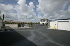 Fenced and gated grounds protect Lehigh Acres storage units.