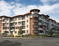 Affordable senior apartments in Van Nuys.