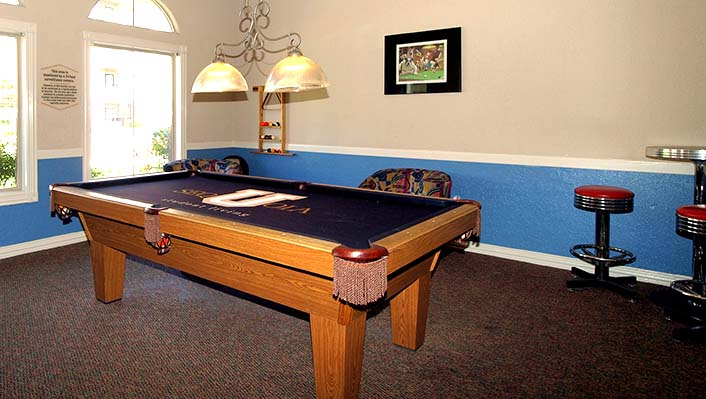 Billard and game room with tv