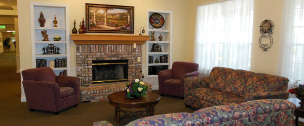 Community room at brandon fl senior living