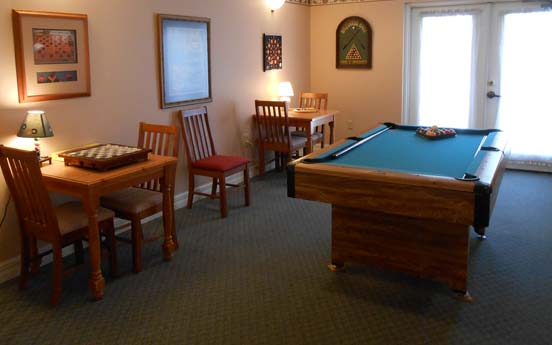 Billiard room at Savannah Court of Orange City