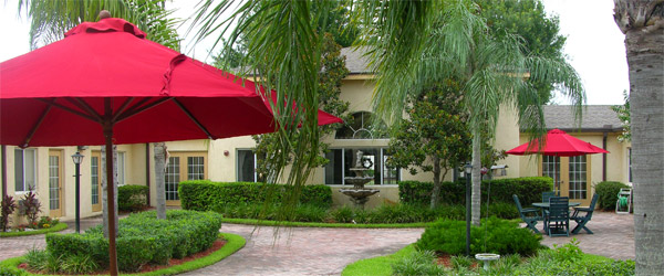Patio at a lakeland fl senior living community