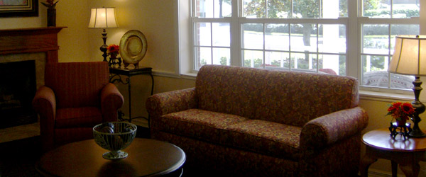 Living room in an oviedo fl senior living-community