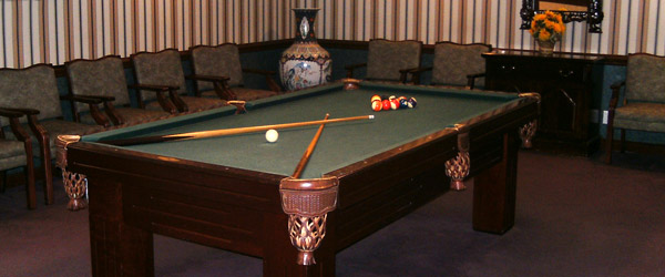Hollywood fl senior living billiards room