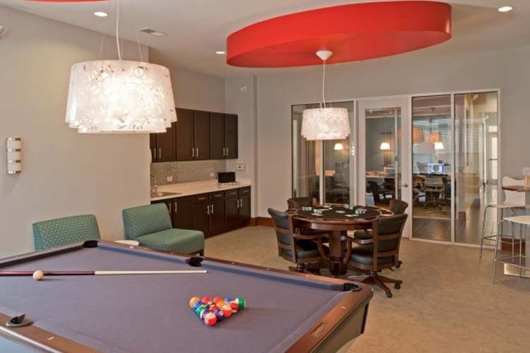 Billiards room at Williamsburg Place
