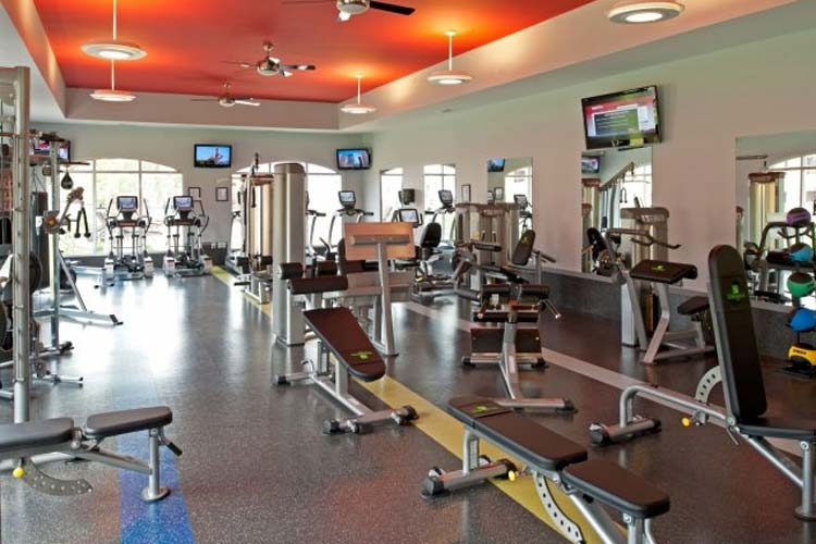 Fitness center at Williamsburg Place
