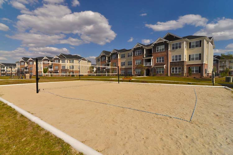 Volley ball court at Williamsburg Place