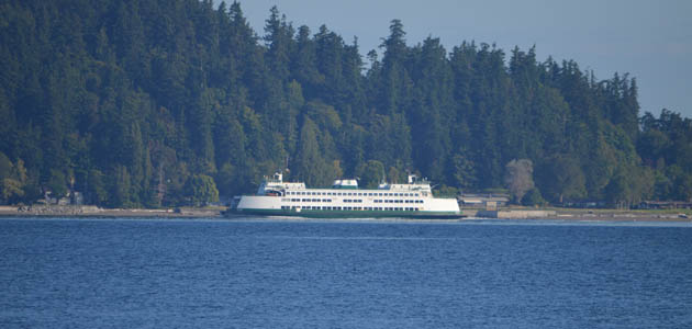 Bremerton ferry near self storage facility