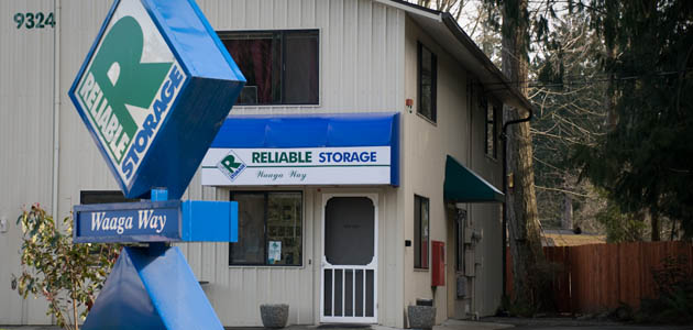 Self storage in Bremerton office exterior