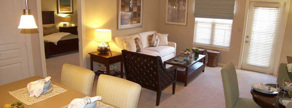 Spacious living rooms at The Manor Homes of Eagle Glen