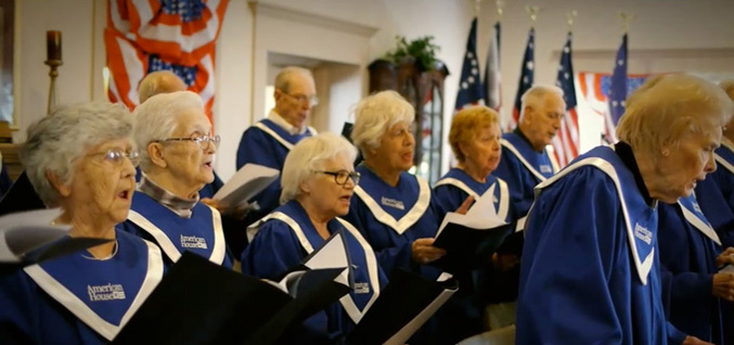 American house choir singing