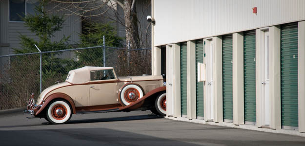 Antique car storage in Washington