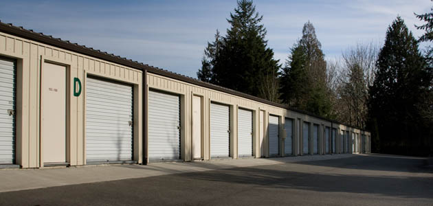 Wide driveways are available at self storage in Bremerton - Waaga Way