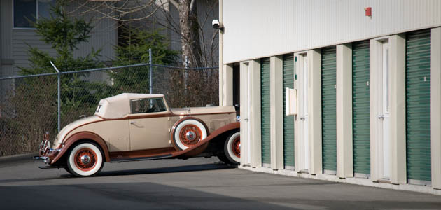 Antique car storage is available in Kingston