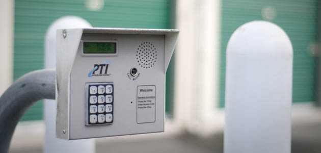 A security keypad grants you access to self storage in Kingston
