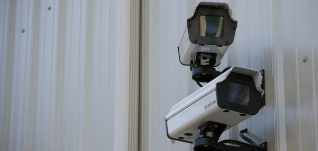 Silverdale self storage has security cameras for the safety of your items