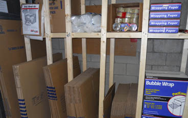 Professional Self Storage Management, LLC locations offer moving supplies for sale
