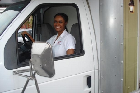 Our facility provides a free truck and driver at move-in