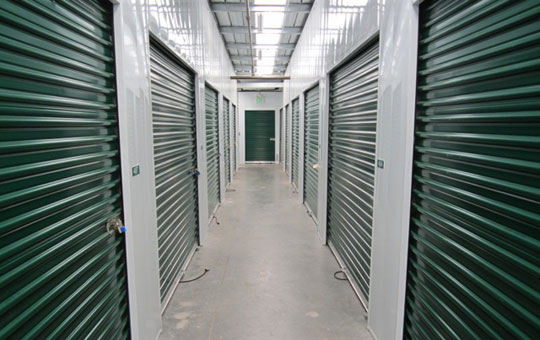 Interior units at Acorn Self Storage