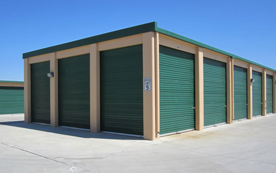 Outdoor storage units at Acorn Self Storage