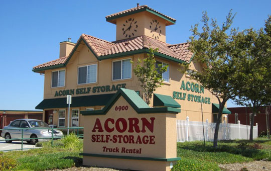 Secured entry at Acorn Self Storage