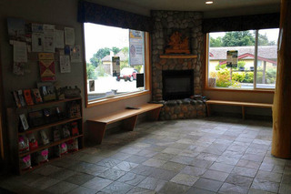 Lobby at the animal hospital in Port Angeles