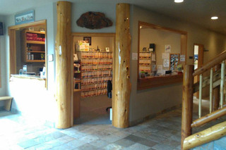Reception area at Port Angeles animal clinic