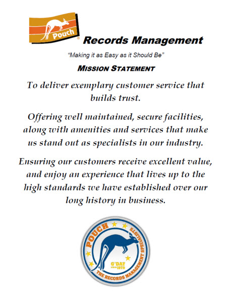 Pouch Records Management Mission Statement