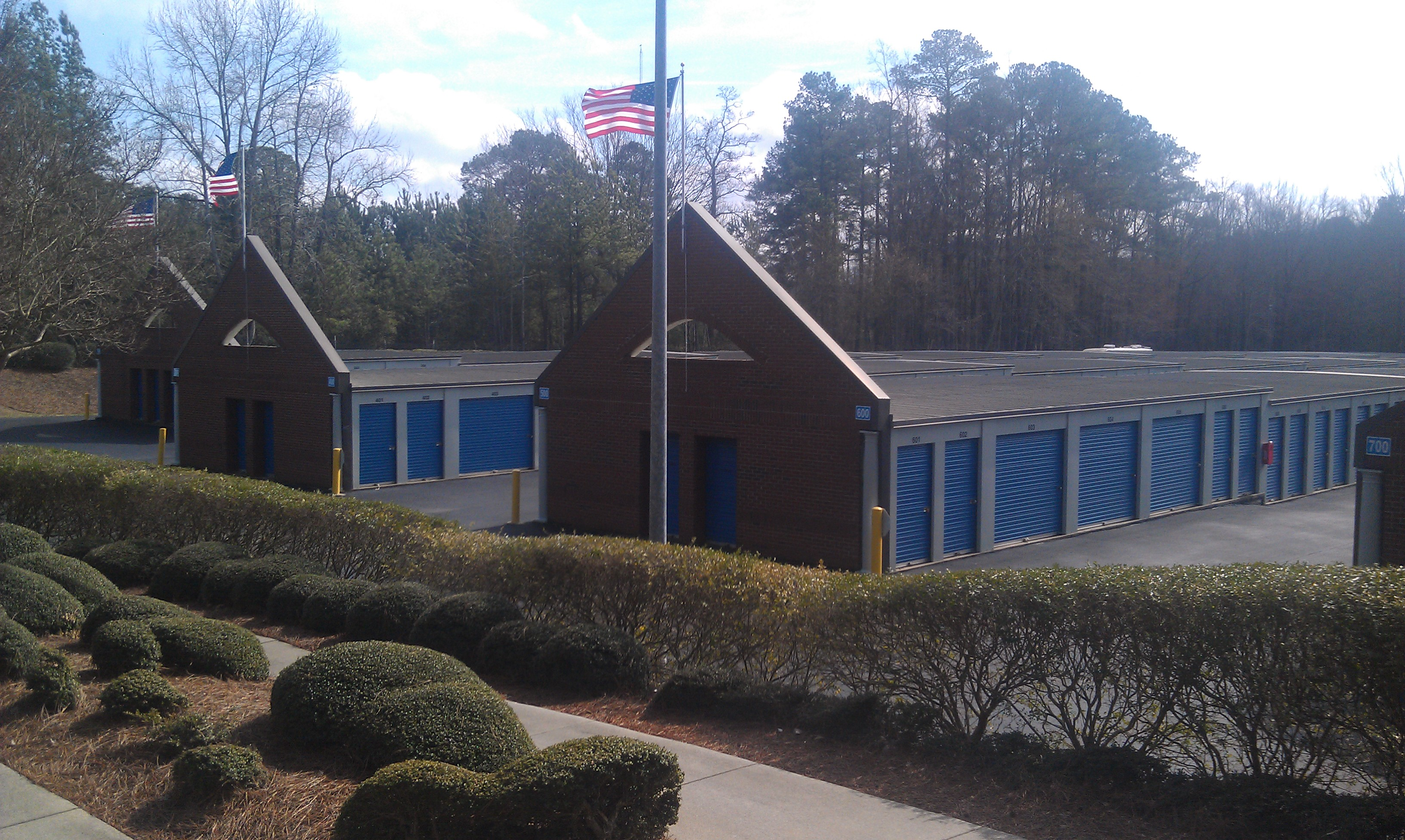 Apex cary self storage building