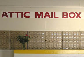Get your mail at Attic Self Storage