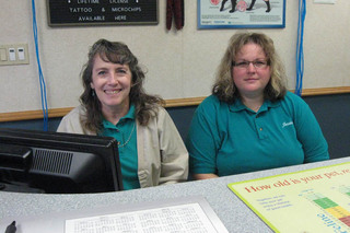 Receptionists at the animal hospital in Duncansville