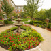 Walk through the beautiful courtyard at Olathe senior apartments