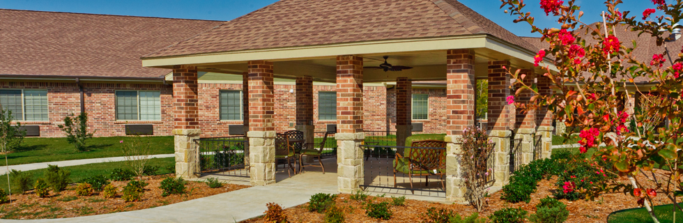 Peaceful gazebo senior living in lawton OK