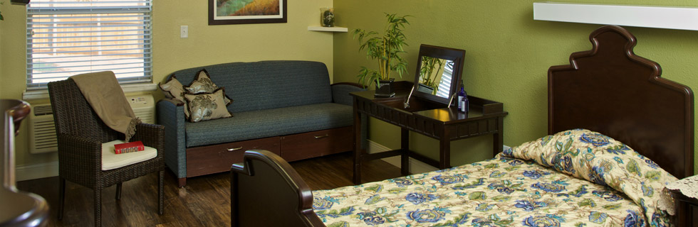 Comfortable room at lubbock senior living