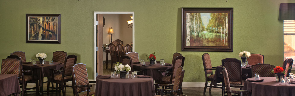 Dining room lubbock senior living